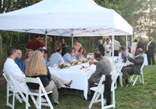 Court Yard receptions for your Pigeon Forge wedding.