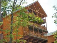 Four bedroom cabin rentals in Pigeon Forge and Gatlinburg Tennessee.