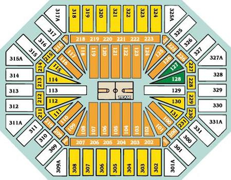 University of Tennessee Thompson Boling Arena Seating Chart